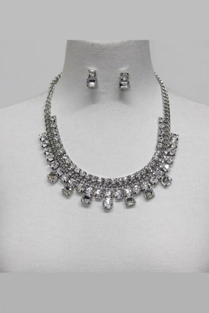 Stinger crystal party necklace set