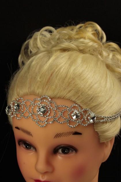Elastic rose headband chain