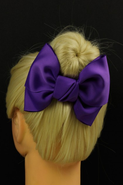 Grosgrain kid bow clip hair accessory