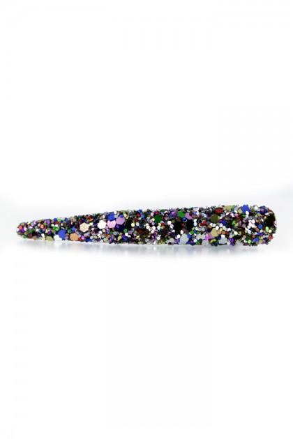 Glitter hair jaw clip