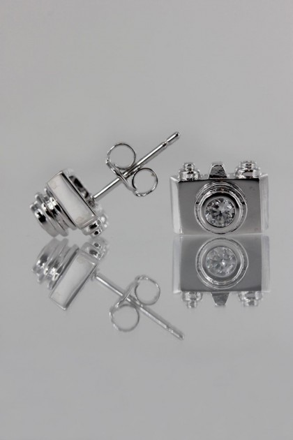 Camera CZ Earring