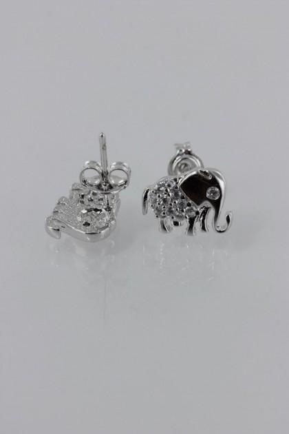 Elephant CZ Earring