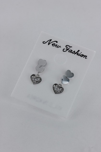 Dangling Heart CZ Earring