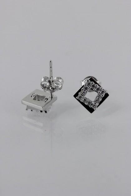 Suqare CZ Earring