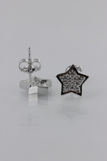 Star Pavement CZ Earring