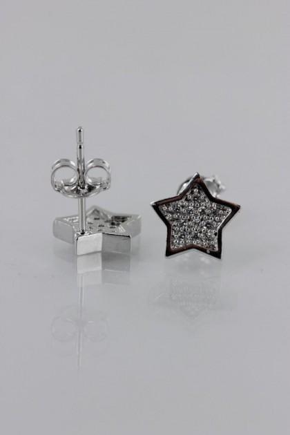 Star Pavement CZ Earring