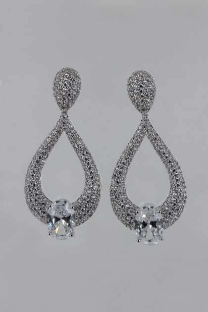 Elegance Bridal CZ Stud Earring