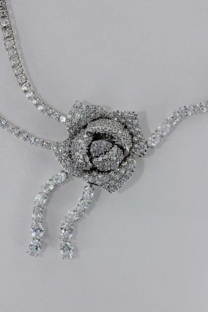 Wholesale Rose CZ Necklace