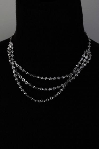 Three Line CZ Necklace