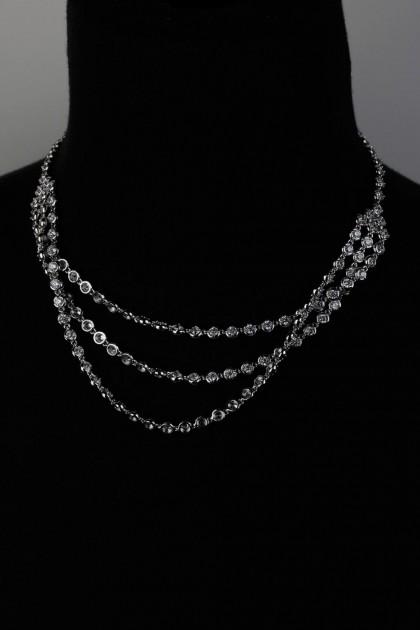 Three Line CZ Necklace