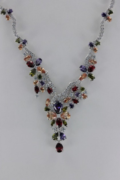 V Line CZ Necklace Wholesale