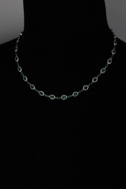 Tranditional CZ Necklace