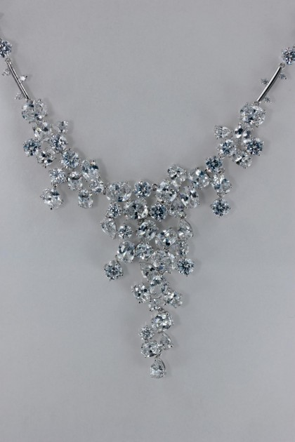 Lux Bridal CZ Necklace Wholesale