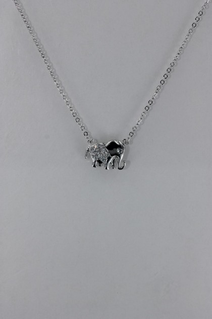 Elephant CZ Pendant