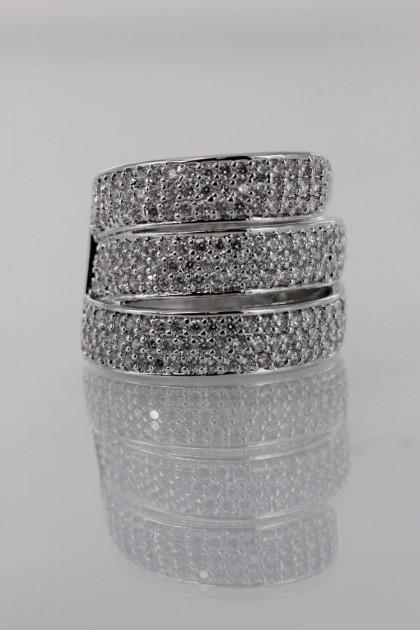 Wholesale Three Line CZ Ring