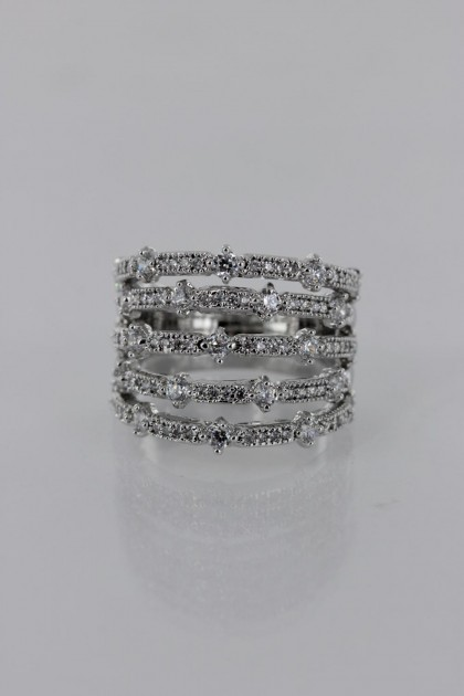 Five LIne CZ Ring Wholesale