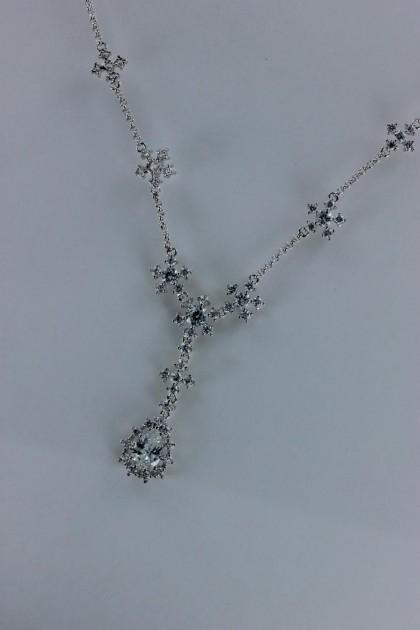 Shiny pear CZ necklace