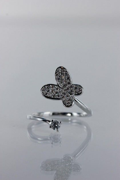 Mordern butterfly CZ Ring