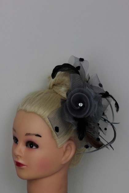 Three Flowers with Feather Clip