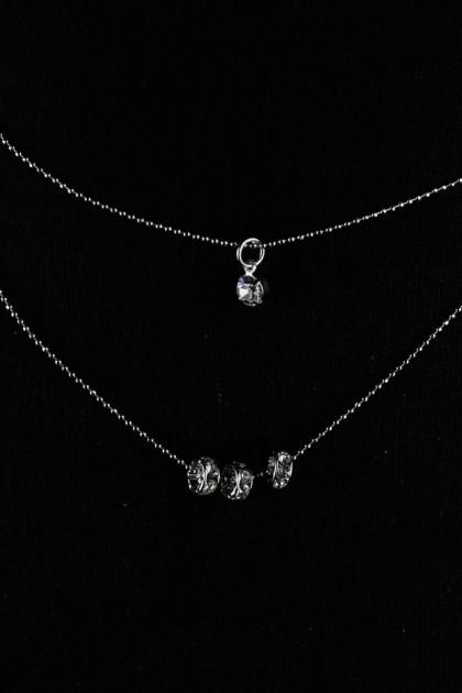 Two Line Mini Necklace