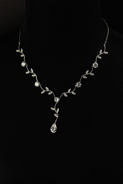 CZ water drop necklace