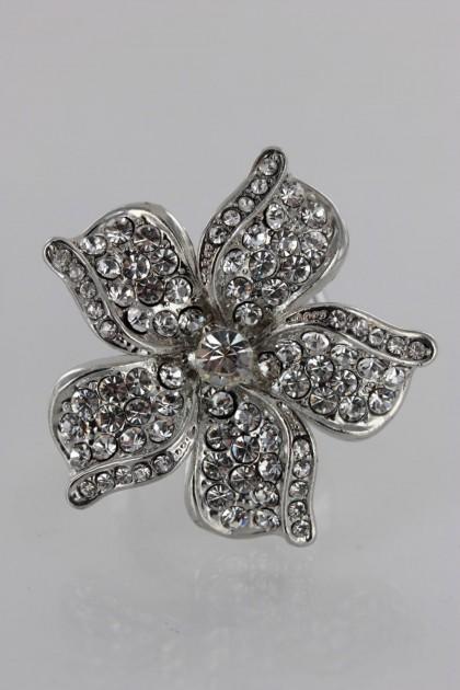 Adjustable Hwaian Flower Ring