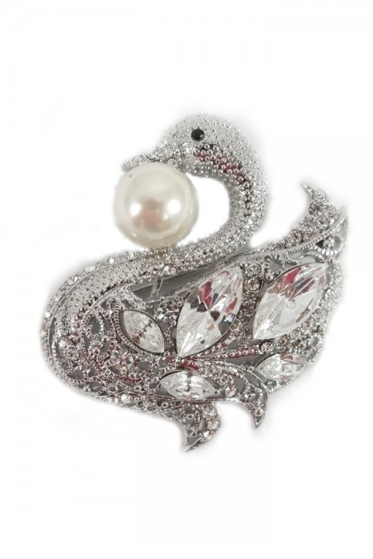 SWAN JEWELRY BROOCHE