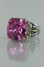CZ-RS711 Pink Antique CZ ring