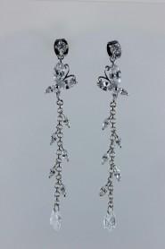 CZ-E225 fantastic butterfly CZ earring