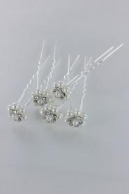 YST-0468 Snow falke pearl stick (set of 24)
