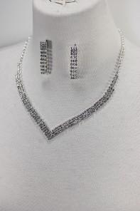 Basic rhinestone necklace set