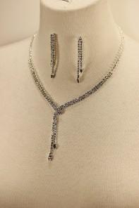 Wondy belt rhinestone necklace set