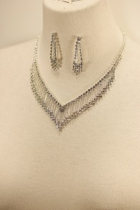 Bridge rhinestone necklace set