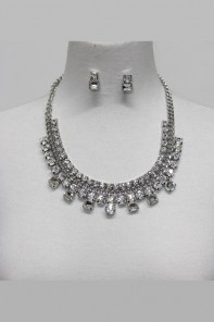 Stinger crystal party necklace set