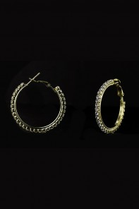 30MM 1-LINE HOOP EARRING