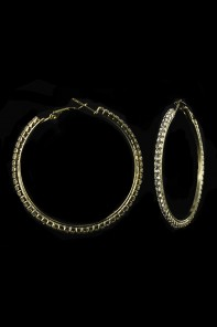 50MM 1-LINE HOOP EARRING-E1288