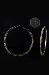 60MM 1-LINE HOOP EARRING