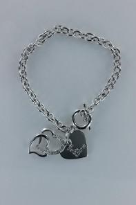 3D heart bracelet