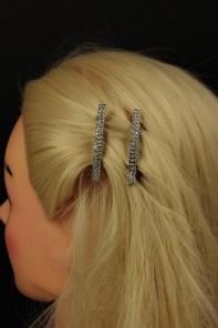 Small Two-Line Barrette