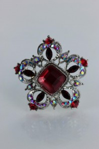 Rose of sharon brooch