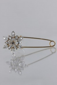 Snowflake shoulder brooch