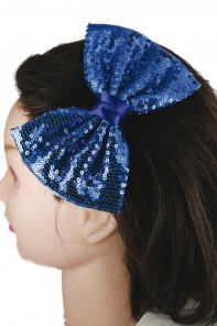 LARGE SPARKLING HAIR RIBBON CLIP