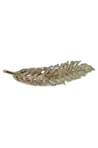 Feather hair jaw clip