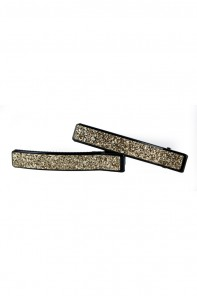 Square glitter hair jaw clip