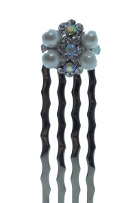 SMALL PEARL HAIR COMB