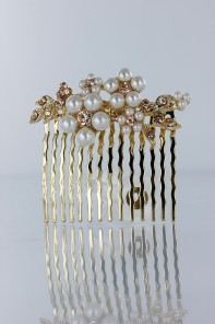 Flower pearl side hair comb