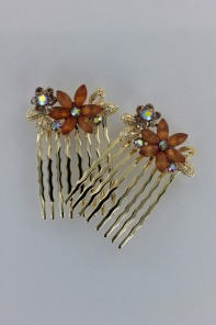 Sun flower comb (set of 2)