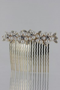 pearl hair side comb