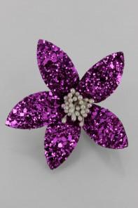 Shiny glitter hwaian flower corsage