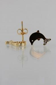 Dolphin CZ Earring